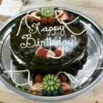 Chocolate Ganache Cake with Fresh Fruit