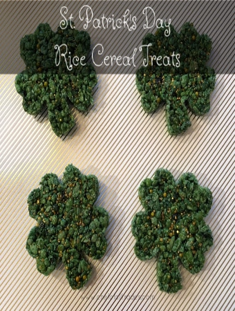 four-leaf clover rice cereal treats
