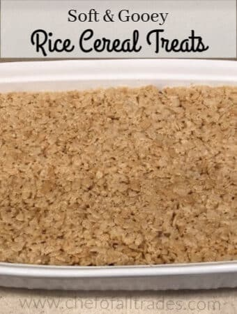 rice cereal treats in a pan
