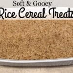 rice cereal treat in a baking pan
