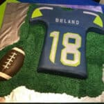 Seattle Seahawks Inspired Jersey Cake