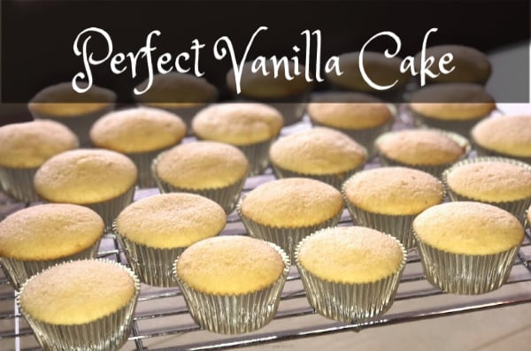 vanilla cupcakes cooling on wire rack