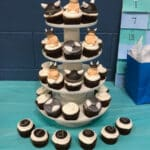 Viking Baby Shower Cupcake Tower