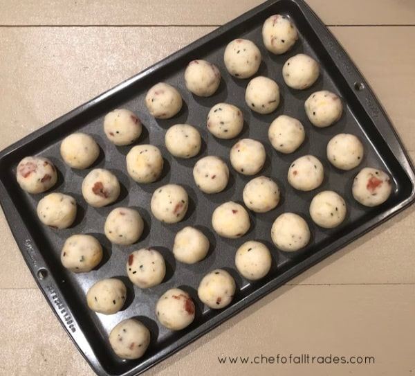rolled out mashed potato bites