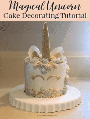 Unicorn Cake on a white platter
