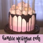 Hombre Meringue Cake on a cake stand