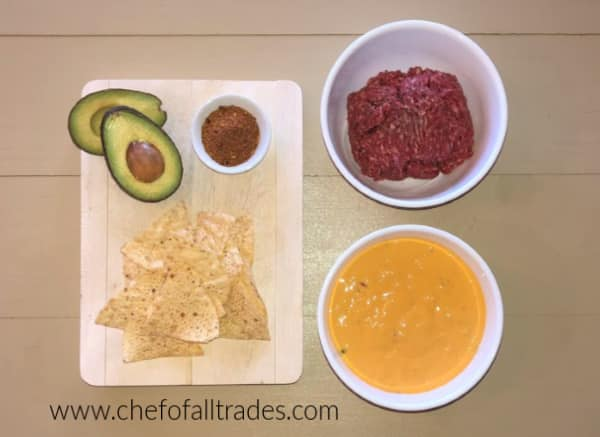 Ingredients for the best queso ever on a table