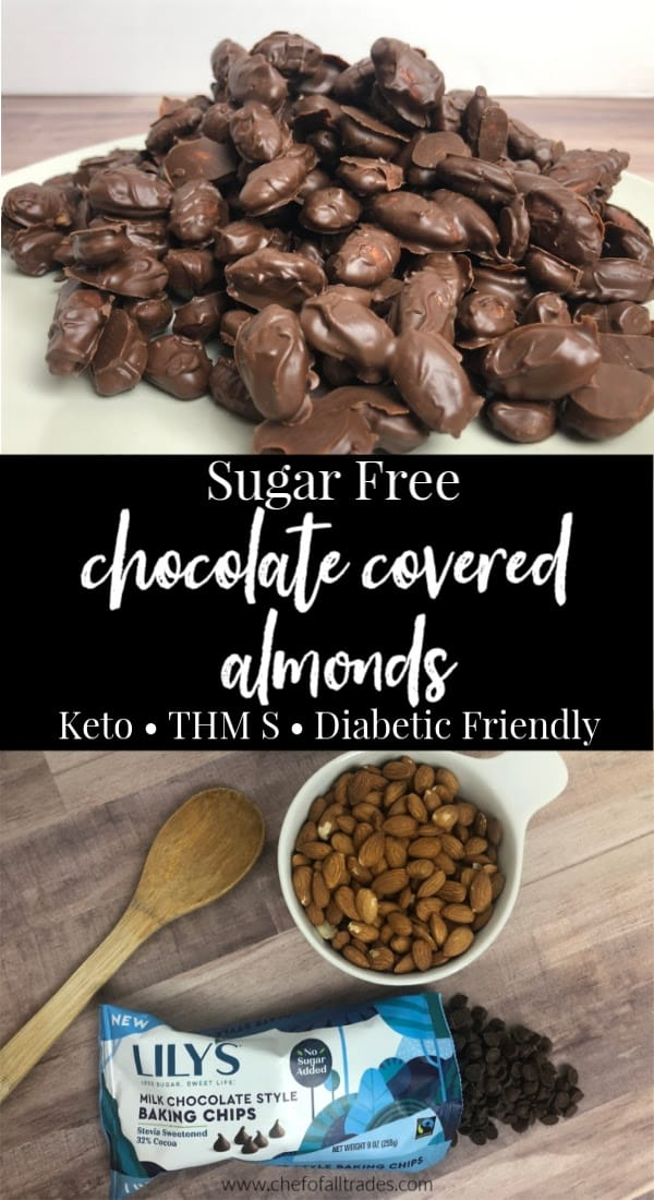 chocolate covered almonds and ingredients for chocolate covered almonds