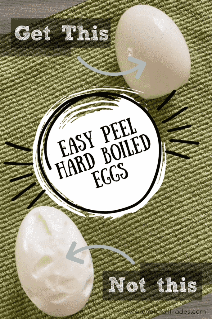 Hard Boiled Eggs on a green cloth
