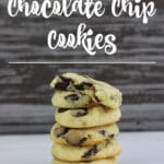 Gluten-Free Sugar-Free Chocolate Chip Cookies stacked